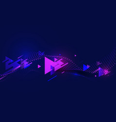 Abstract colorful triangles motion speed vector