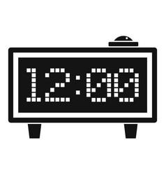 Alarm clock icon simple style vector