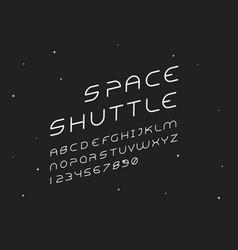 Alien italic font alphabet vector