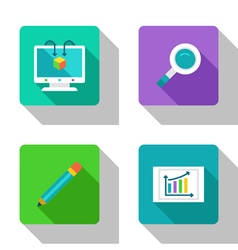 Analysis and research flat Icons vector image