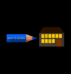 back to school a pencil pointer in the direction vector image