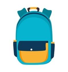 backpack bag school vector image