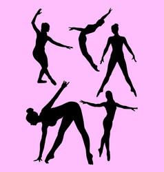 ballerina gesture silhouette vector image