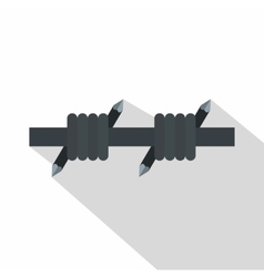 Barbed wire icon flat style vector image vector image