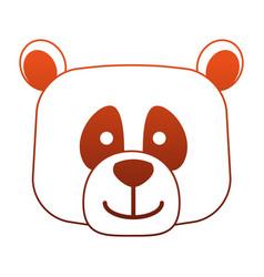 bear head wild animal on red lines vector image
