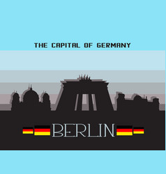 Berlin city infographics vector