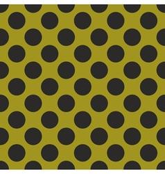 Black tile polka dots on green background vector image