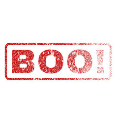 Boo exclamation rubber stamp vector