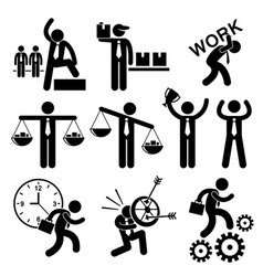 Business people businessman concept stick figure vector