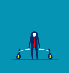 business weightlifter investor and investment vector image
