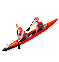 Canoe Double 2016 Sports Isometric 3D vector image
