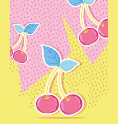 Cherries punchy pastel vector