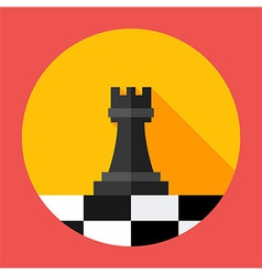 Chess Strategy flat circle icon vector image