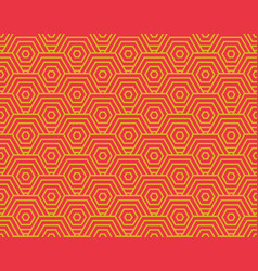 chinese hexagon wave pattern seamless spiral vector image