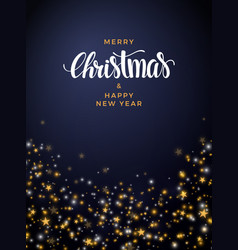Christmas gold star background with pearls vector