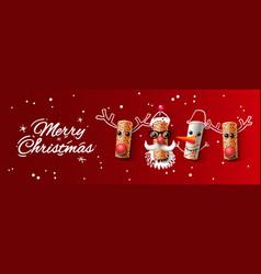 christmas web banner wine cork vector image