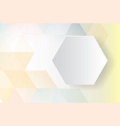 colorful hexagon abstract background vector image