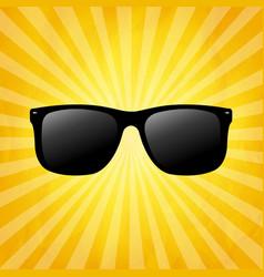 crumpled yellow sunburst background vector image