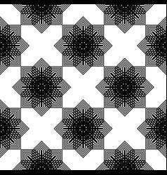 design seamless monochrome snowflake pattern vector image