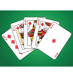 Diamonds Royal Flush vector image