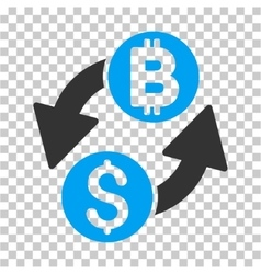 Dollar bitcoin exchange icon vector