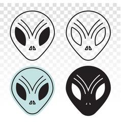 Extraterrestrial alien face or head symbol line vector