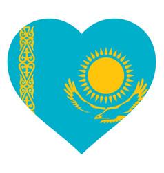 Flag in heart sign flag in shape heart vector
