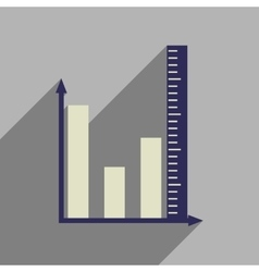 Flat web icon with long shadow graph vector image