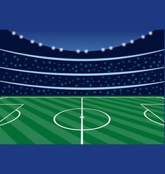 Football stadium with tribunes in the evening vector