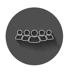 group of people icon in line style persons icon vector image