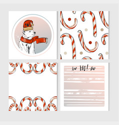 hand made merry christmas greeting cards vector image