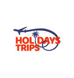 holidays trips logo design symbol vector image