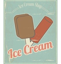 Ice Cream Vintage Card vector image