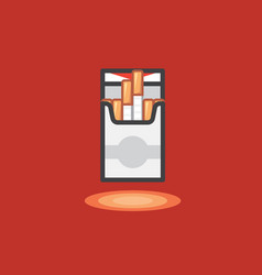 Icon in line work style pack cigarettes vector