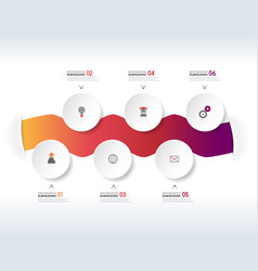 Infographic colorful design template with icons vector