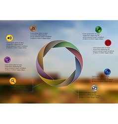 Infographic template with circle divided to eight vector