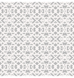 Lace pattern with white shapes in art deco style vector image