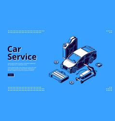 Landing page car service auto maintenance vector