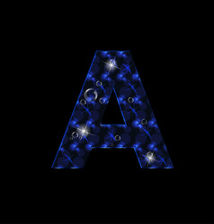 letter a abstract blue icon vector image