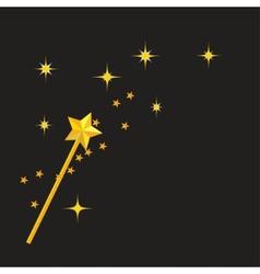 magic wand vector image