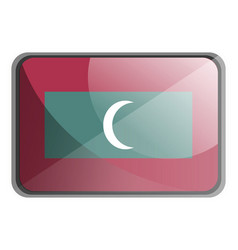 maldives flag on white background vector image