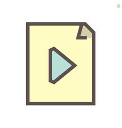 media file icon design 48x48 pixel perfect vector image