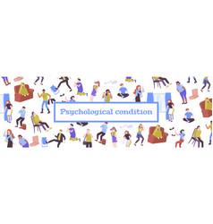 Mental health flat pattern vector