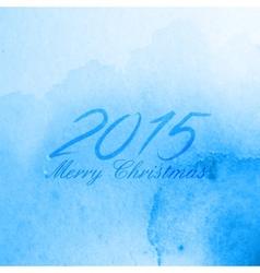 Merry Christmas 2015 creative poster design vector image