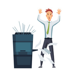 office documents copier office worker prints vector image