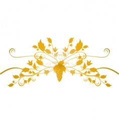 ornate grape flourish vector image