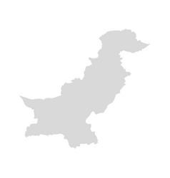 Pakistan map afghanistan kashmir east vector