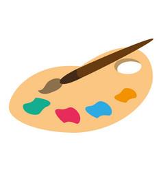 palette color paint brush vector image