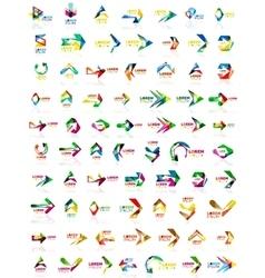 Paper style arrow logos vector