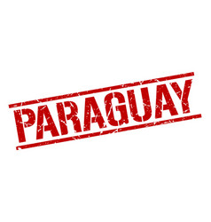 Paraguay red square stamp vector